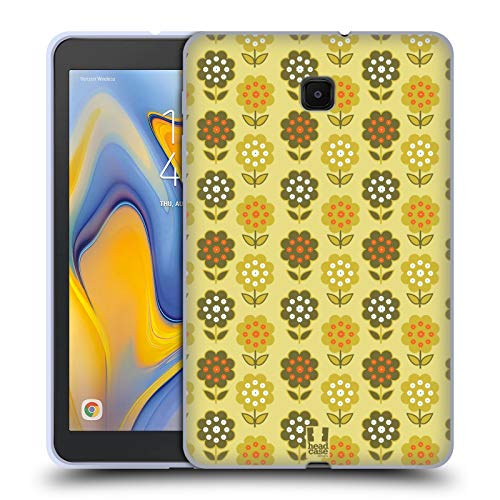 Head Case Designs Chartreuse Flower Trees Bohemian Patterns Soft Gel Case Compatible for Galaxy Tab A 8.0 (2018)