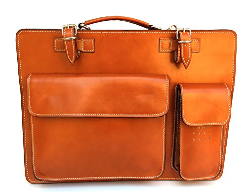 Borsa Pelle modello documenti cognac 38x27x10 Porta in XL Cartella Superflybags Made Classic Vera Italy Bwd6qBy