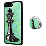 Hynina Phone Case and Phone Ring Buckle Compatible for iPhone 7 Plus 8 Plus - Chess Pieces