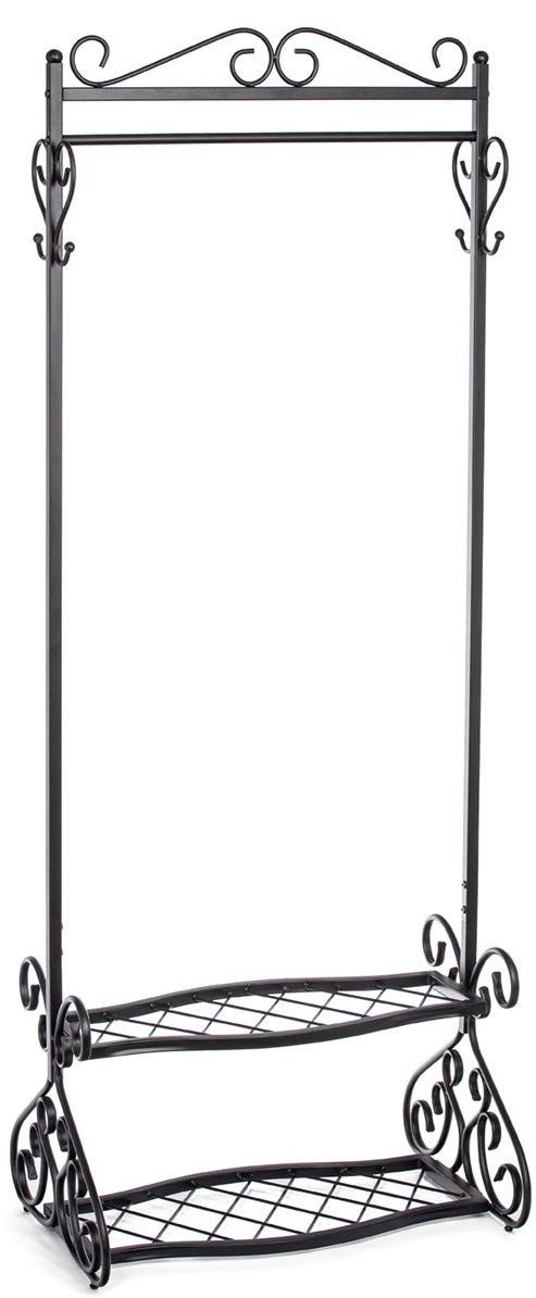 Mango Steam Brighton Combo Shoe and Coat Rack, 72 Inches Tall