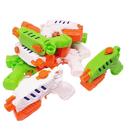 Boley 10-Pack Super Soaker Water Guns - Outdoor Water Toys for Toddlers, Kids, Children - Durable, Easy-to-Fill Water Guns with Classic Design - Perfect to Bring to Pools, Beaches, Parties, and More! ()