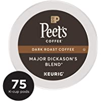 Deals on Peets Coffee Major Dickasons Blend Dark Roast 75ct K-Cup Packs