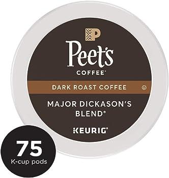 75-Count Peet's Coffee Dark Roast Major Single Cup Coffee Pods