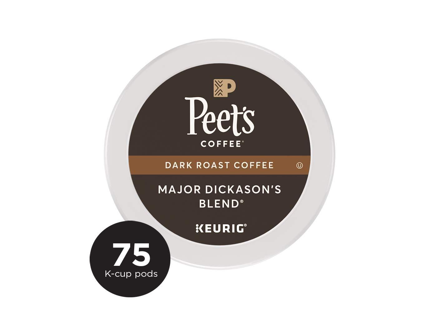 Peet's Coffee Major Dickason's Blend Dark Roast Coffee K-Cup Coffee Pods (75 Count) by Peet's Coffee