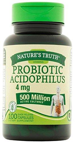 Natures Truth Probiotic Acidophilus 500 Million 100 Count