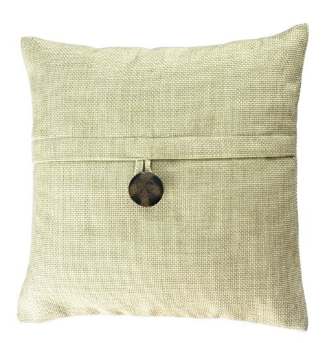 allen + roth Loft Collection Bold Button Decorative Pillow Replacement Cover, Green