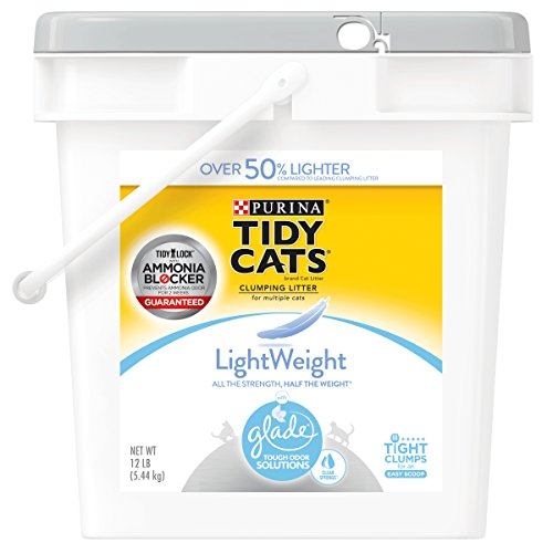 (Purina Tidy Cats Light Weight, Dust Free, Clumping Cat Litter; LightWeight Glade Clear Springs Mulit Cat Litter - 12 lb.)