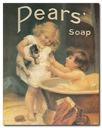 Pears Soap Ad Wall Decor Vintage Advertisement Picture Bathroom Art Print Poster (16x20)