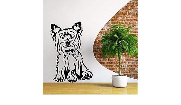 Pbldb 42X60 Cm Yorkshire Terrier Dog Vinyl Tatuajes De Pared ...