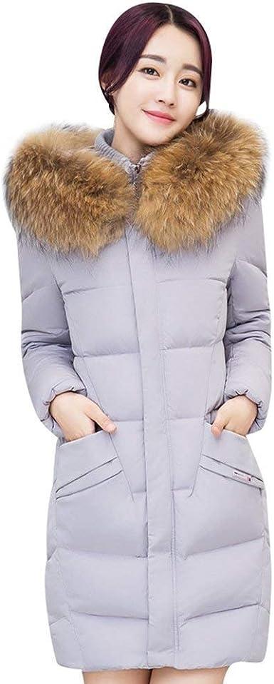 Hiver Parka Femme Longue Elégante Grande Taille Chaud Doudoune Manteau avec Fourrure Casual Mode Chic Fashion À Capuchon Rugueux Slim Fit Manteau De