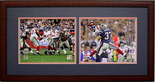 Super Bowl Frame - The Helmet Catch! Super Bowl 42, The New York Giants Eli Manning and David Tyree 2 8x10's Framed Photo Picture Collage