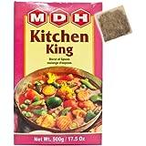 MDH キッチンキング 500g 1箱 チャイバック 1包付き Kitchen King 業務用 スパイス ハーブ 香辛料 調味料 ミックススパイス
