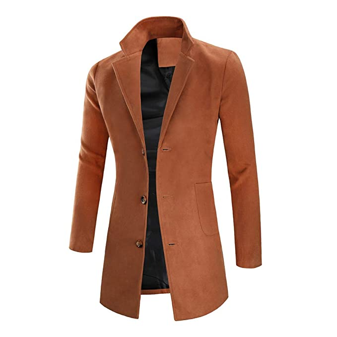Vestido De Fiesta Hombre Chaqueta para Hombre Abrigo De Invierno Cálido Botón Largo Outwear Abrigo Elegante Abrigos: Amazon.es: Ropa y accesorios