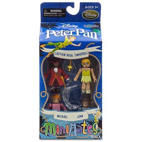 Disney Peter Pan Minimates Exclusive Mini Figure 4-pack Captain Hook, Tinkerbell, Michael & John