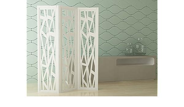 mouk Lines Biombo Decorativo Lacado Blanco Mate MDF 25mm: Amazon.es: Hogar