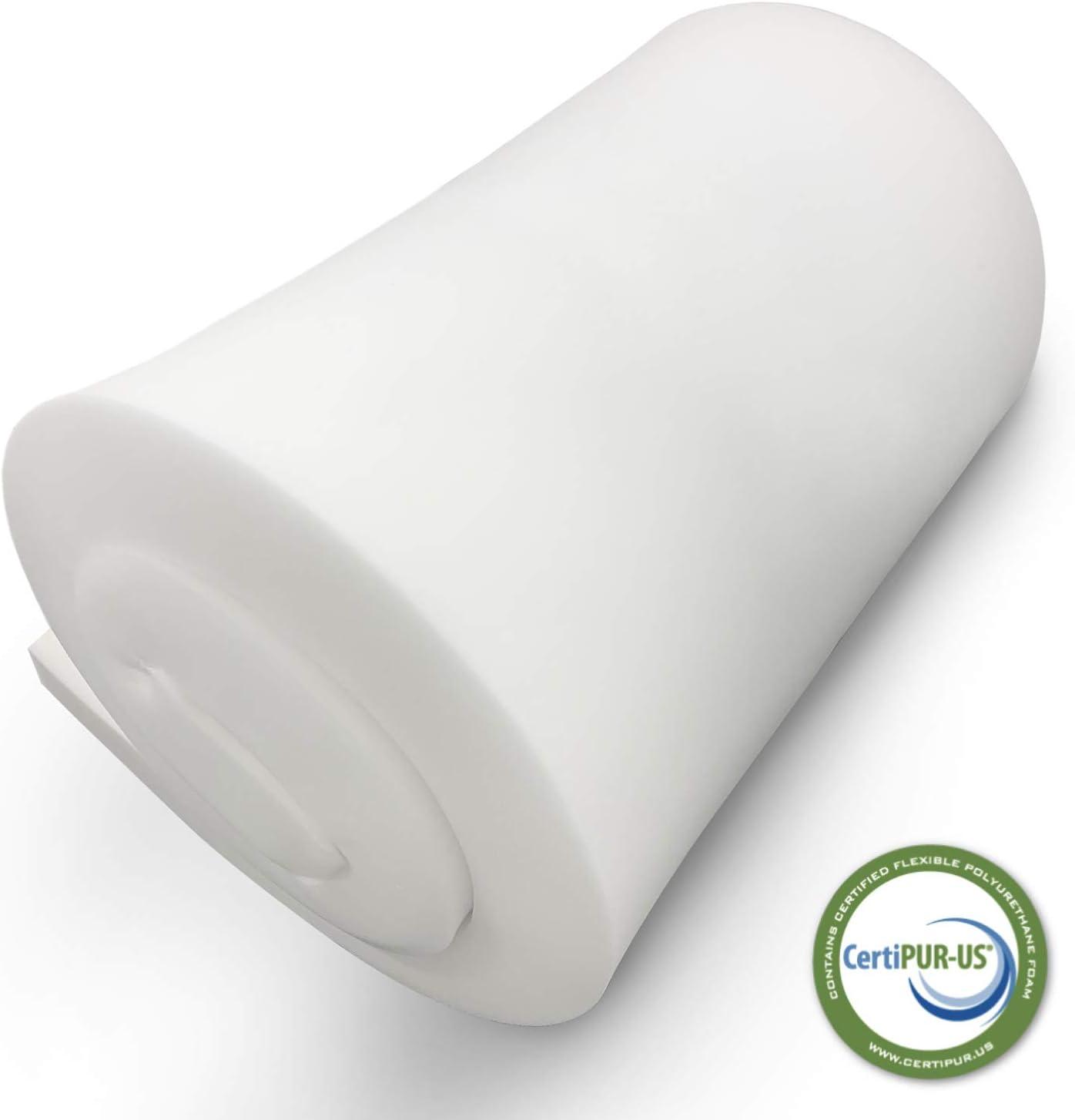 FOAMSPOT 4 Height x 30 Width x 72 Length 1.8 Density 44ILD Upholstery Foam Cushion Made in USA Firm