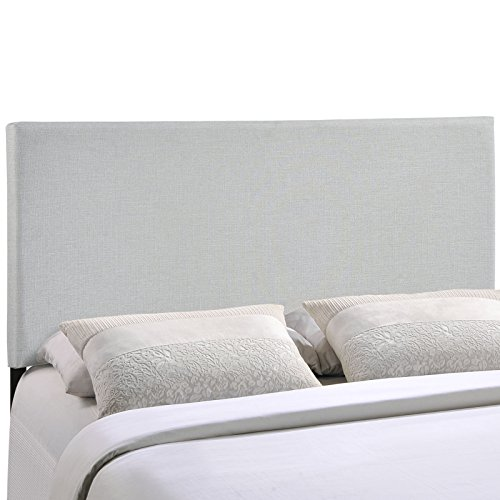 Modway Region Upholstered Linen Headboard Full Size In Sky Gray by Modway
