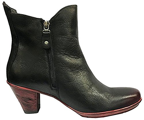 Black Leather Italian Maciejka Red Boots Ankle Angela Z6qxEx0