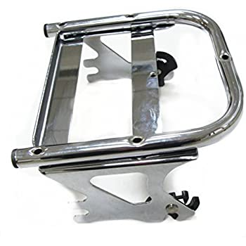 TJMOTO Matte Black Detachable Two-up Tour Pak Pack Mounting Luggage Rack with Spacer For Harley Touring Electra Glide Road King 1997-2008