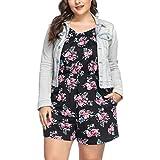 PARTY LADY Womens Halter Neck Short Romper Jumpsuit Playsuit Plus Size 2XL Black