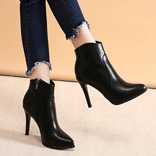 LBTSQ-Kurze Stiefel High Heels Dünnen Absätzen Haben Haben Haben Kröten Nackt Stiefel 11Cm Reißverschlüsse Mode-Witze Ma Dingxue 09f681