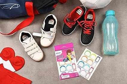 Avery España CHAUS12-UK. Etiquetas adhesivas Vuelta al cole para Zapatos, MATERIAL ESCOLAR Surtido de 24 etiquetas: Amazon.es: Oficina y papelería