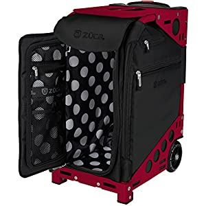 ZUCA Oxford Pro Artist Bag in Frame with Built in Seat, with Set of 5 Stacking Packing Pouches (Choose Your Color)