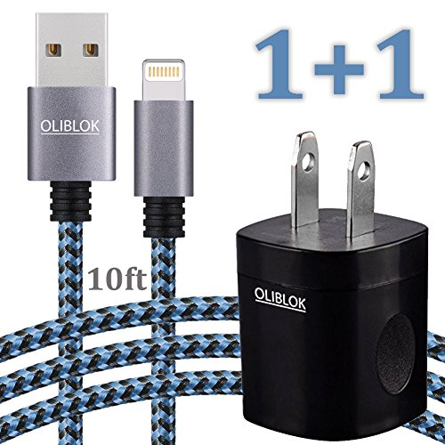 Extra Long iPhone Charger - 10FT Lightning Cable Data Sync B