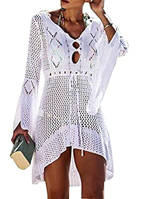 Wander Agio Beach Tops Sexy Perspective Cover Dresses Bikini Cover-ups Net Coverups