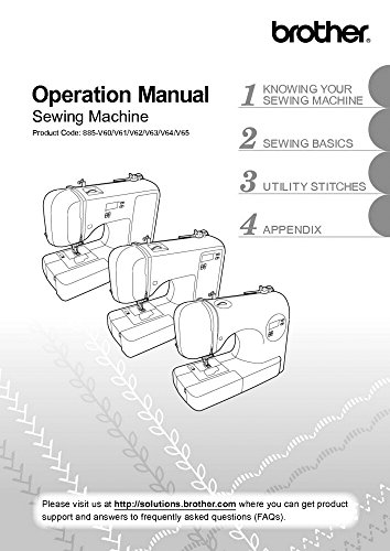 (Brother CE1100PRW Sewing Machine Owners Instruction Manual)