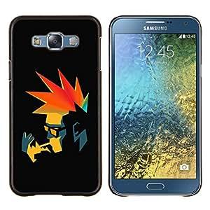 LECELL--Funda protectora / Cubierta / Piel For Samsung Galaxy E7 E700 -- Punk Fumador retro --