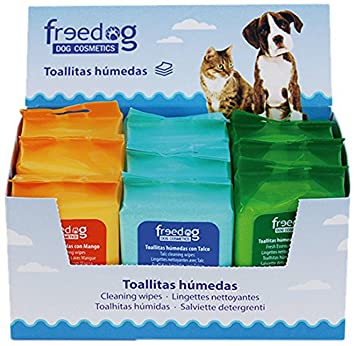 Freedog FD1200140 - Expositor 9 toallitas y 3 esencias: Amazon.es: Productos para mascotas