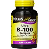 Mason Natural, Ultra B-100 Complex Vitamin Tablets, 100-Count Bottle,