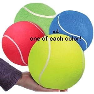 (LOT OF 4) JUMBO TENNIS BALL 8 by RINCO