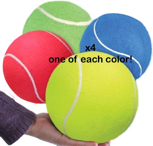 (LOT OF 4) JUMBO TENNIS BALL 8 by RINCO