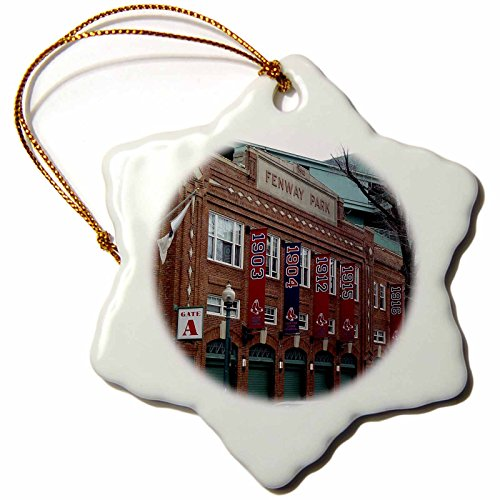 3dRose Lenas Photos - Boston - Fenway Park just days before the celebration of its hundredth anniversary - 3 inch Snowflake Porcelain Ornament (orn_59200_1)