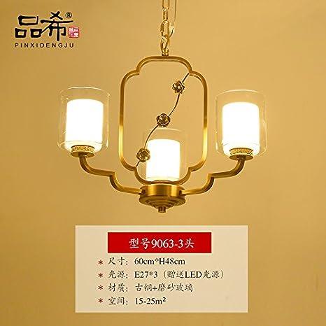 chjk briht nuevos chinos llena lámparas de bronce estar de ...