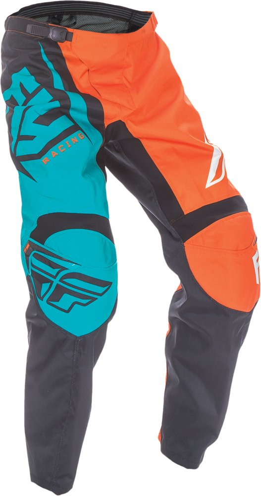 Fly Racing Unisex-Adult F-16 Pants (Orange/Teal, Size 34)