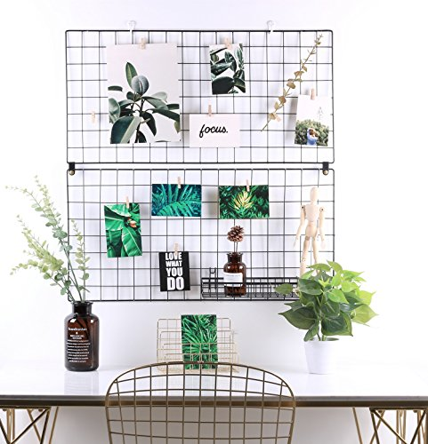 Kufox Multifunction Metal Mesh Grid Panel,Wall Decor