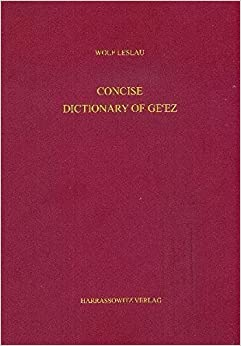 Book Concise Dictionary of Gecez (Geez Edition) by Wolf Leslau (2010-06-04)