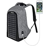 ECEEN Solar Backpack Anti-theft Travel Laptop Backpacks Built-in 10 Watts Solar Panel with USB Charging Port Powered Apple iPhone, Tablets, USB Devices Etc. for Business School and Travel Outdoor