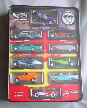 Hot Wheels Larry Wood 35th Anniversary Commemorative Classics 10 Car Tin Exclusive Paint