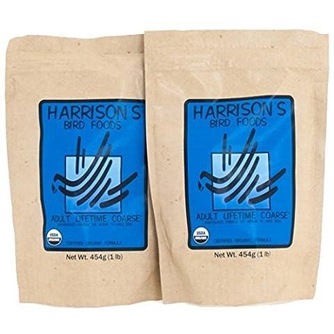 Harrison's Organic Lifetime Coarse Pellets 1lb (454 g) - Pack of 2