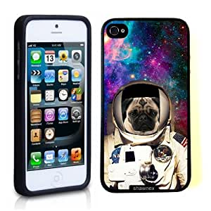 iPhone 5 5S Case ThinShell TPU Case Protective iPhone 5 5S Case Shawnex Astranout Space Hipster Pug