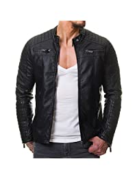 Prime Men's Polyurethan Leather Jacket C1