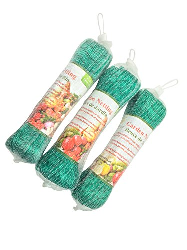 Harvest Plenty Garden Netting to Cover Fruit Trees Plants Ponds - Stop Birds Deer - 33 X 6 Feet - 3 Pack