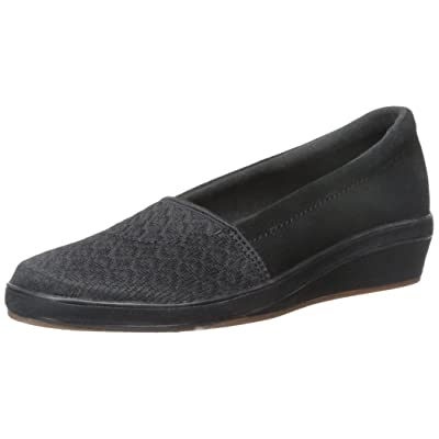 Grasshoppers Women's Maybelle Slip-On Wedge, Black, 9.5 M US   Fashion Sneakers