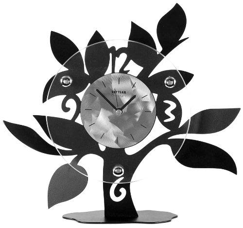 Ashton Sutton Table Clock, Metal And Glass Case