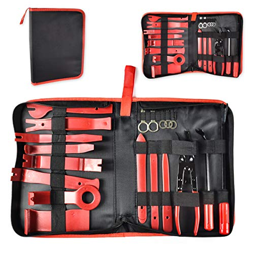 Ansblue Nineteen-Piece Non-Marring Auto Trim Removal Prybar Set,Trim Removal Tool Set Nylon for Car Panel Dash Audio Radio Removal Installer and Repair Pry Tool Kits with Storage Bag by Ansblue (Image #6)