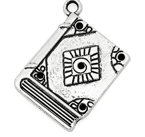 (5 x Tibetan Silver Book Spell Book Witchcraft Harry Potter 27mm Charms Pendants Beads)